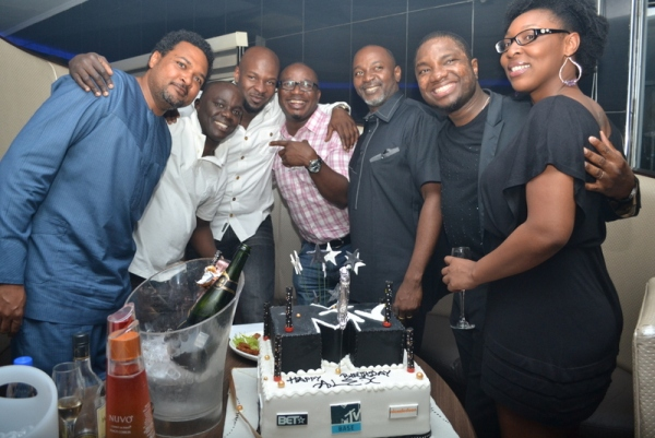 Cecil Hammond Ayo Animashaun Alex Okosi and guests PHOTOS : Banky W, Julius Agwu, Toolz, Ice Prince, Wizkid, Others Gather To Celebrate Alex Okosi's Birthday In Lagos