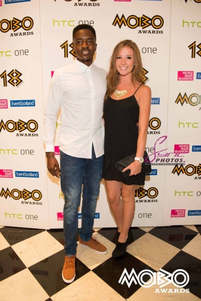 MOBO Awards 2013 nominations London Sept 3 - l-r Guvna B and girlfriend
