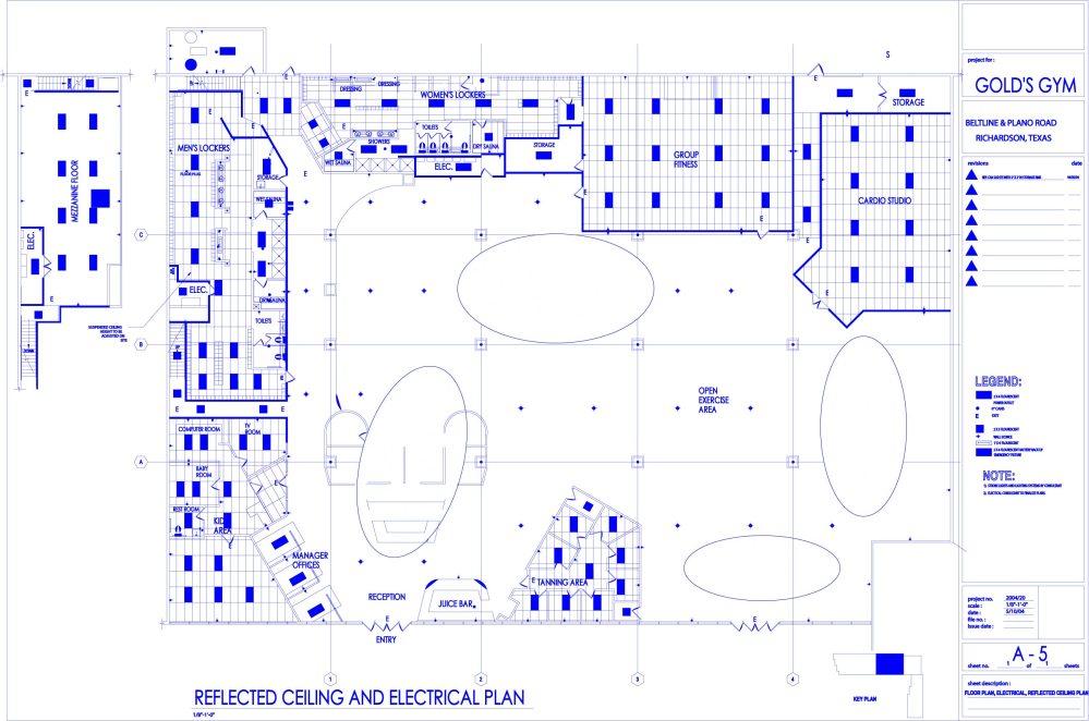 medium resolution of gym power reflected ceiling plan