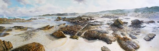 Larry Mitchell South of Rivermouth Rockpools 274cm x 92cm