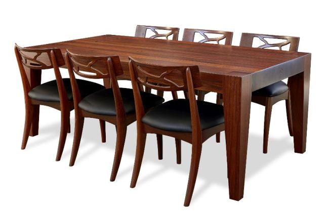 Jarrah timber - with Filigree Dining Chairs - chairs priced separately