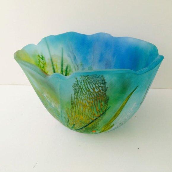 "Vivienne Jagger ""Sea Bed"" Glass bowl"