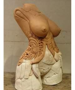 Lauren-Rudd-The-Red-Corsett-femal-torso-sculpture-front