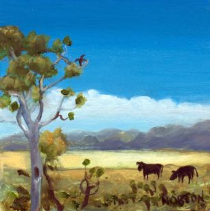 Helen-Norton-Angus-Cattle-In-Landscape-painting