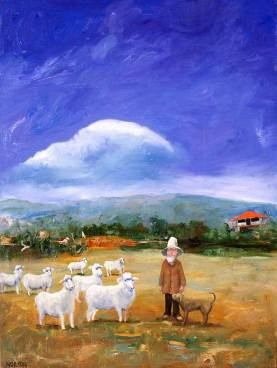 Helen-Norton-Sheep-Farmer-painting