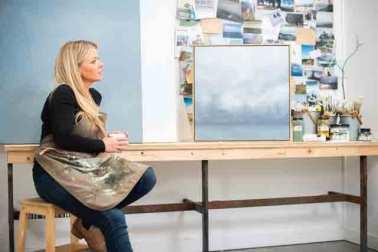 Debbie Mackenzie Artist In Studio
