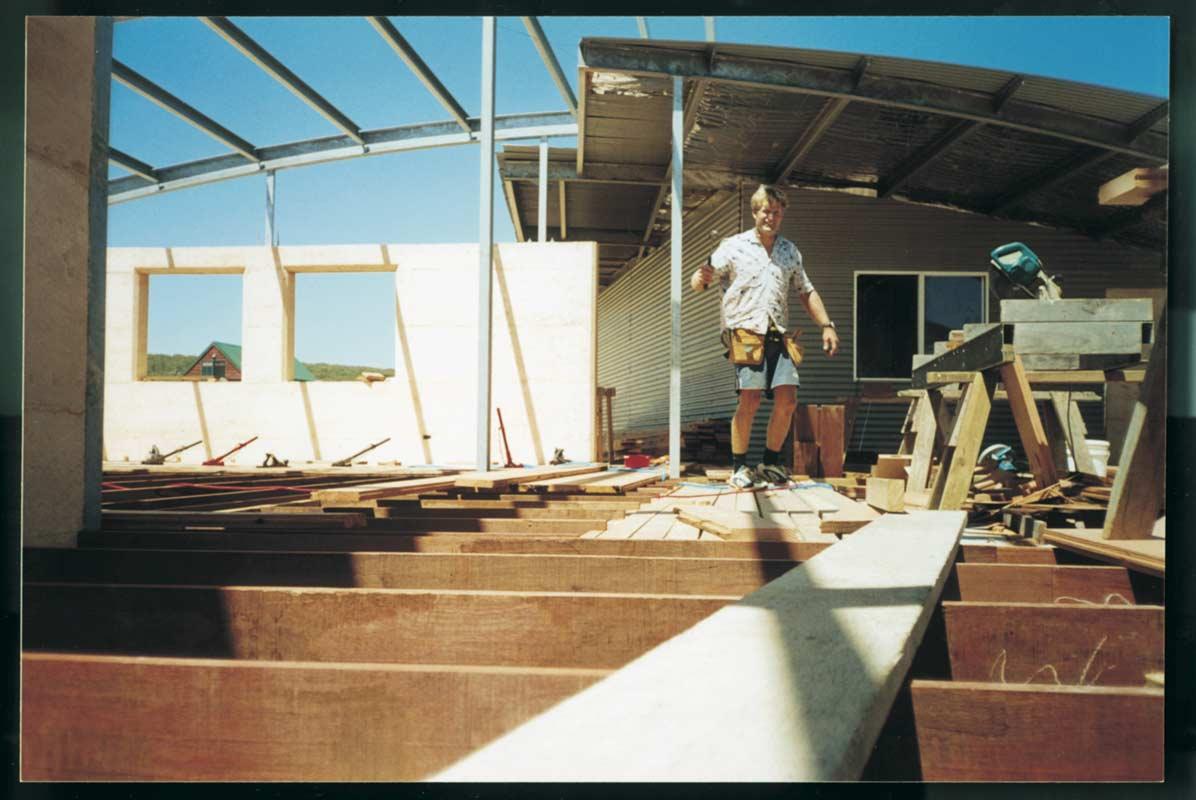 Jahroc Story So Far Gary Working On Gnarabup House