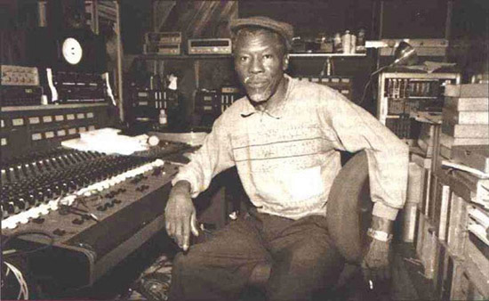 Clement 'Coxsone' Dodd in studio
