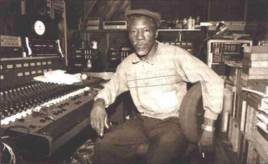 Clement 'Coxsone' Dodd in studio