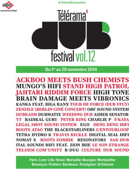 [13] - TELERAMA DUB FESTIVAL#12 - Ackboo meets Bush Chemists + Legal Shot Sound System + Guest