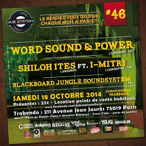 [75] - DUB STATION #46 - WORD SOUND & POWER + SHILOH ITES feat. I-MITRI + BLACKBOARD JUNGLE
