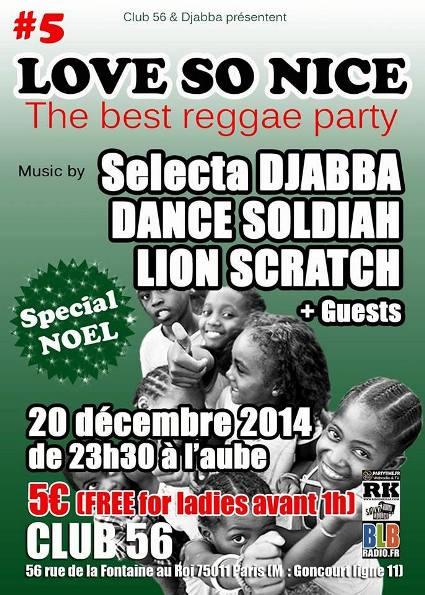 [75] - LOVE SO NICE # 5 - DANCE SOLDIAH + LION SCRATCH + SELECTA DJABBA