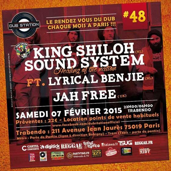 [75] - DUB STATION #48 - KING SHILOH SOUNDSYSTEM Feat. LYRICAL BENJIE & JAH FREE