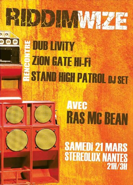 [44] - RIDDIMWIZE - DUB LIVITY + STAND HIGH PATROL +  RAS MC BEAN + ZION GATE Hi-Fi