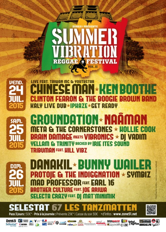 [67] - SUMMER VIBRATION REGGAE FESTIVAL - CHINESE MAN LIVE feat. TAIWAN MC & YOUTHSTAR + KEN BOOTHE + CLINTON FEARON & THE BOOGIE BROWN BAND + KALY LIVE DUB + IPHAZE + GET READY