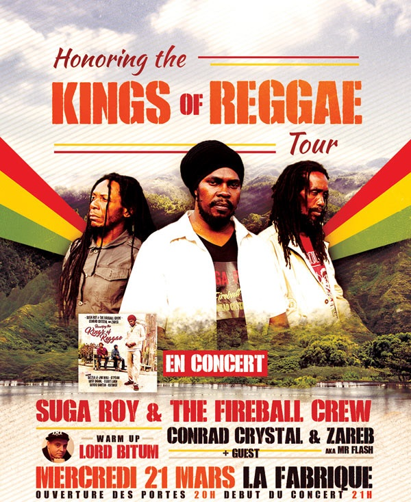 [33] - HONORING THE KINGS OF REGGAE - SUGA ROY / CONRAD CRYSTAL / ZAREB