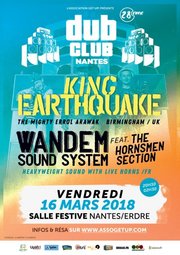 [44] - NANTES DUB CLUB #28 - KING EARTHQUAKE + WANDEM SOUND SYSTEM feat. THE HORNSMEN SECTION