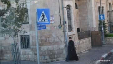 A rabbi passes