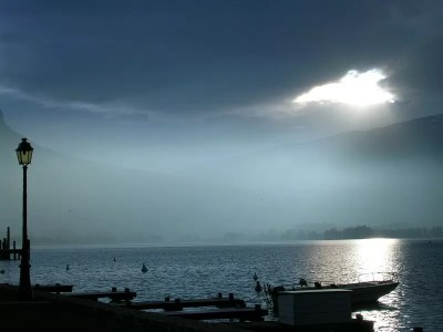 Lumières d'automne sur le lac