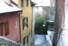 Annecy, ruelle en hiver