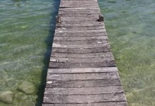 eau claire pour ce ponton