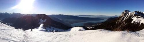 lac d'Annecy depuis les hauteurs