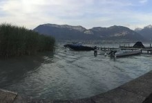 Annecy, le lac et le wakeboard