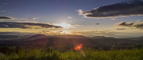 fin de journée sur les collines