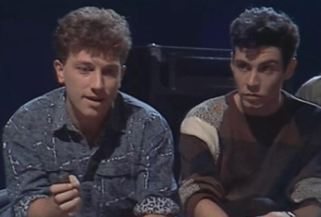 Con Bernardo Bonezzi en 'La edad de oro' (1984)