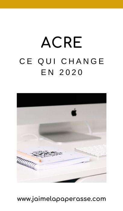 ACRE : ce qui change en 2020 suite à la réforme de l'aide à la création et reprise d'entreprise. Présentation en images dans l'article de J'aime la paperasse. #microentreprise #autoentrepreneur #entrepreneuriat #administratif