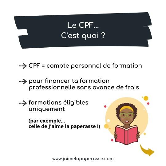 Le CPF - compte personnel de formation - qu'est-ce que c'est ?