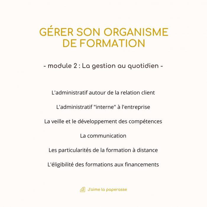 Module 2 : L'administratif autour de la relation client L'administratif