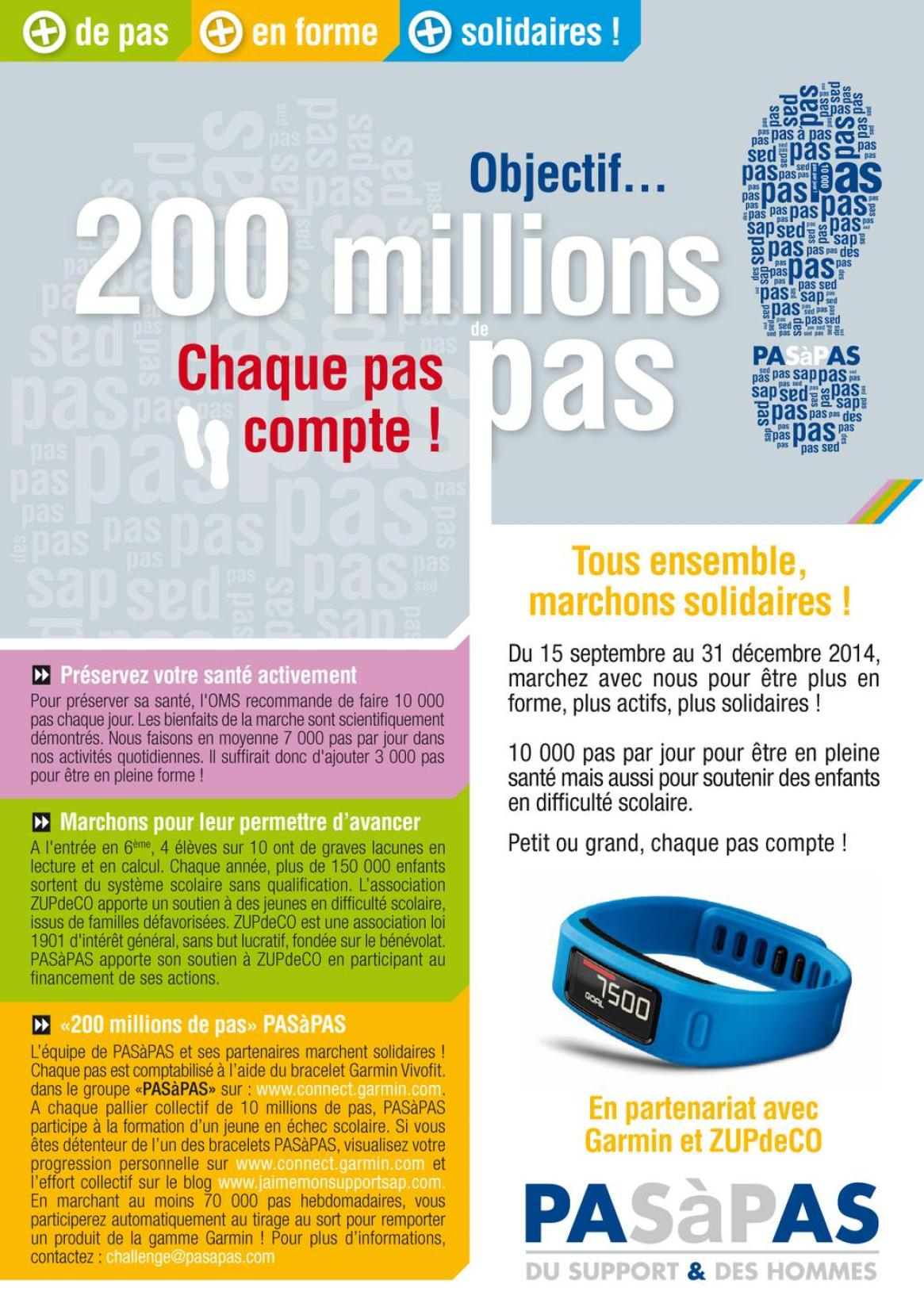 Challenge 200 millions de pas