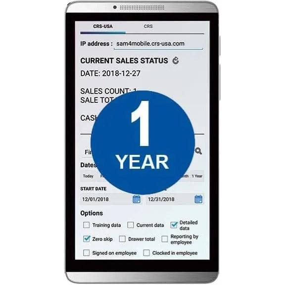 Sam4POS Mobile App - 1 Year License  JaimePOS A Leading POS & Merchant Services Provider