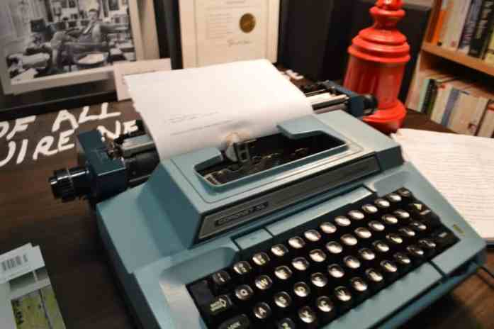 A replica of Kurt Vonnegut's Typewriter at the Vonnegut Library in Indianapolis