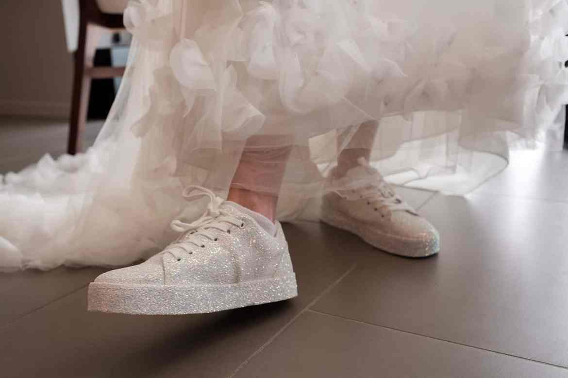 springshoes and non-traditional bridal shower outfit
