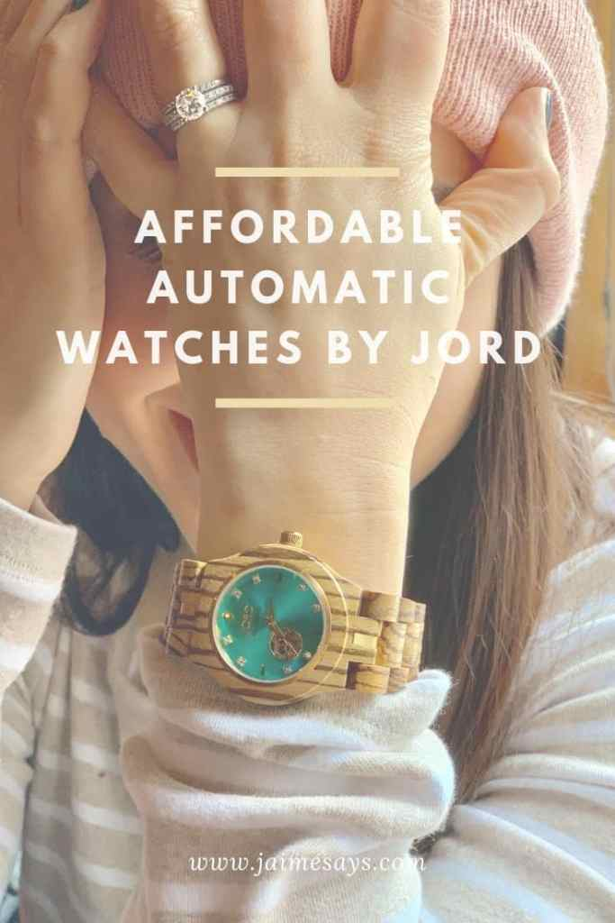 affordable automatic watches with JORD allow the flexibility of an automatic watch without the four or five digit price tag.  You'll never have to change another watch battery!
