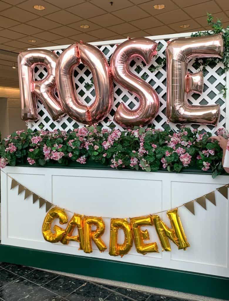 Fun Decor in the Rose Garden at Binny's Wine Expo.