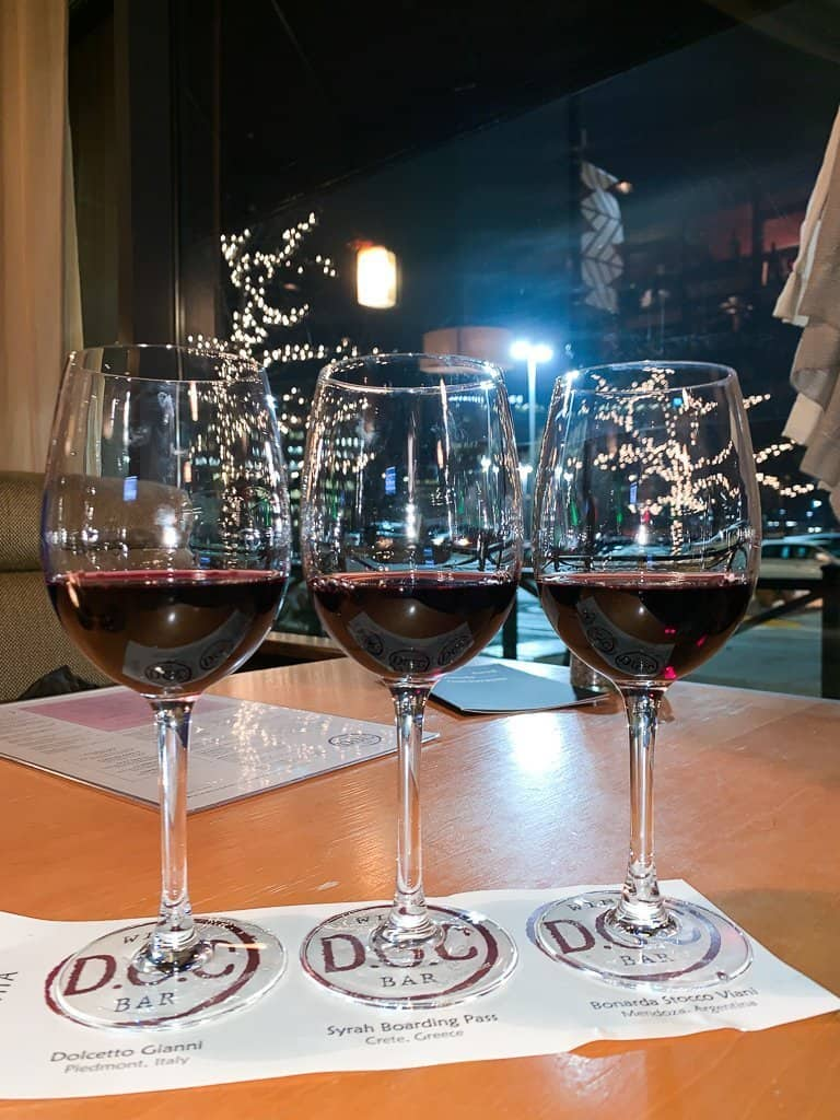 a wine experience at D.O.C wine bar in Lombard