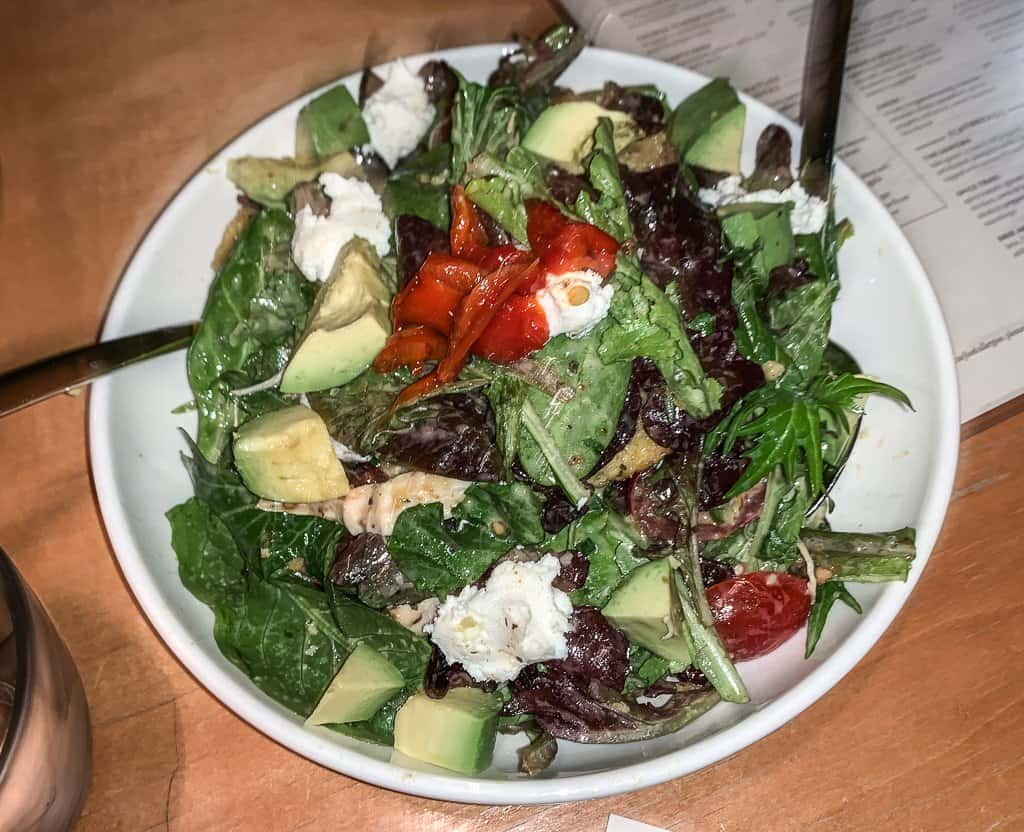 The Wrightwood Salad at D.O.C. winebar