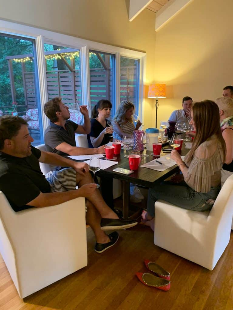 our at home wine tasting
