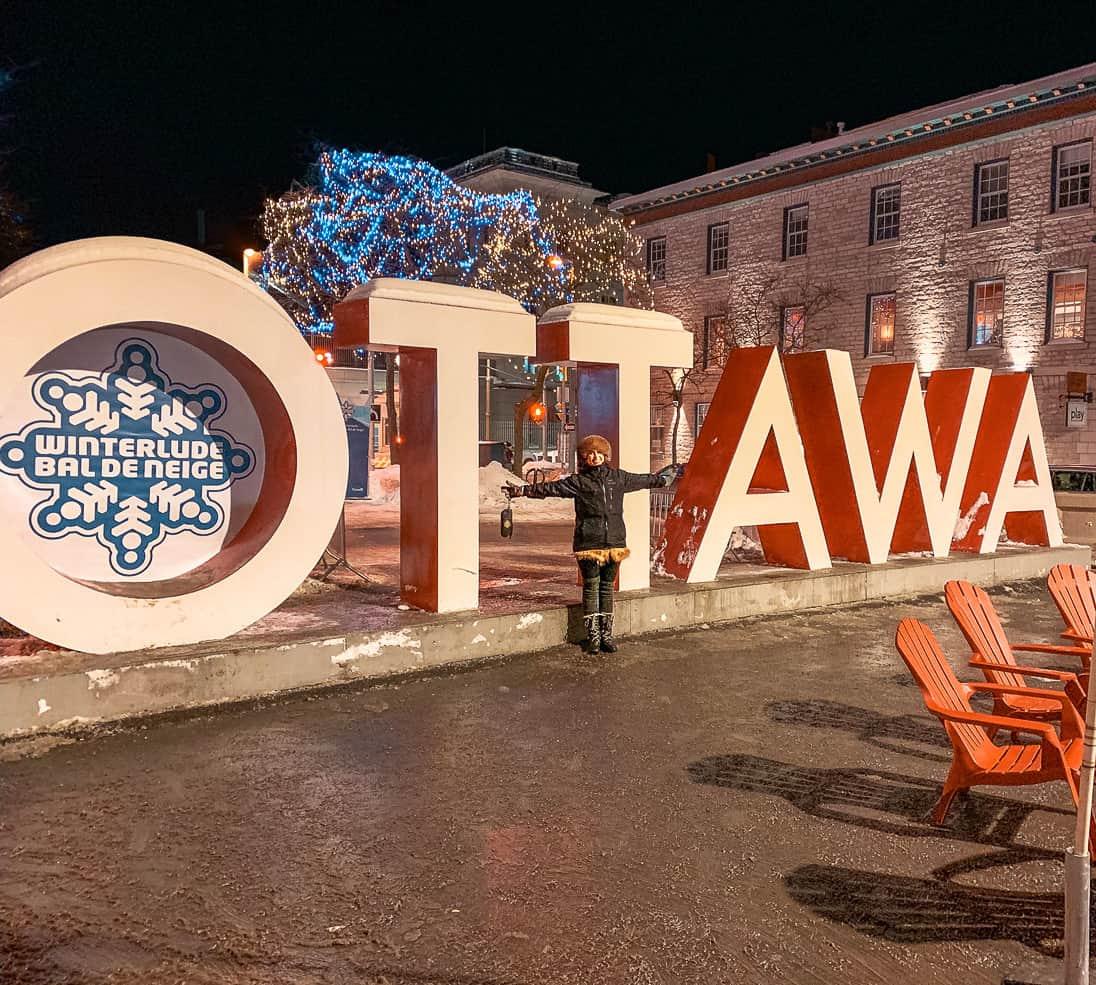 Ottawa Sign at Winterlude