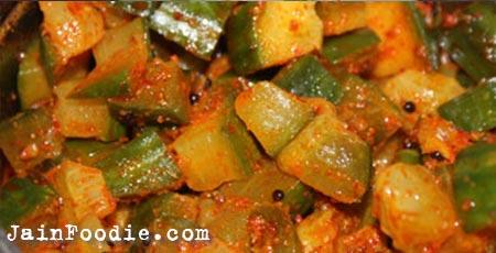 Jain Cucumber Sabji