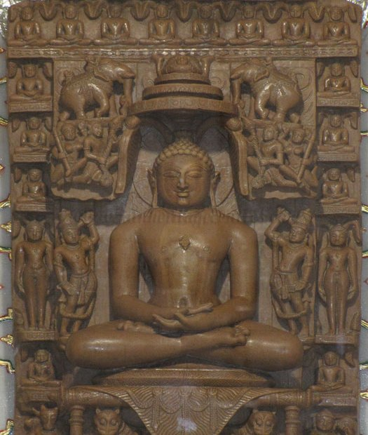 Tirthankar Adinath in Padmasana, Sri Digambar Jain Temple at Ranila.