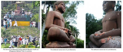 Mahavir Idol Defaced - Lucknow