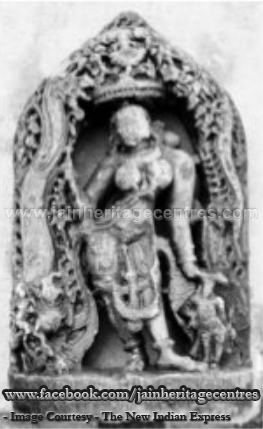 Image of Jain Yakshi Ambika found at Karjagi Village