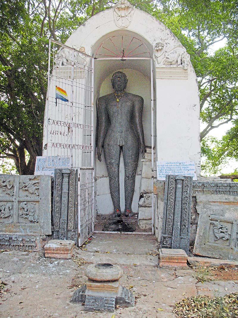 Basadi Hosakote's Bahubali Idol - ಬಸದಿ ಹೊಸಕೋಟೆಯ ಭಗವಾನ್ ಬಾಹುಬಲಿ ವಿಗ್ರಹ.