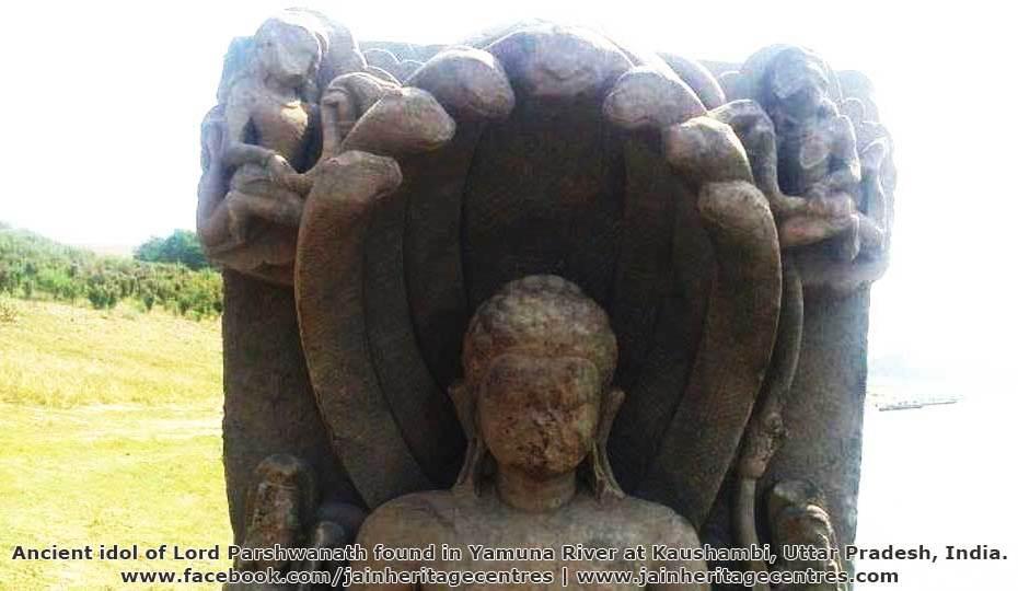 Parshwanath Jain Tirthankar idol found at Kaushambi, Uttar Pradesh.