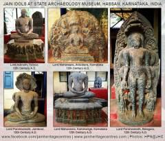 Jain Idols at State Archaeology Museum, Hassan, Karnataka, India