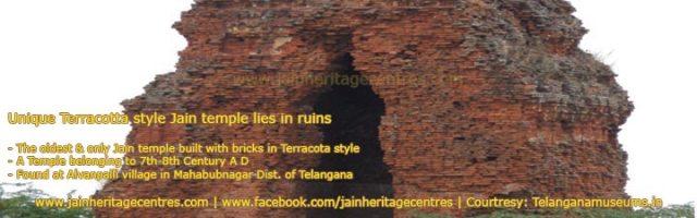 Unique Terracotta style Jain temple lies in ruins